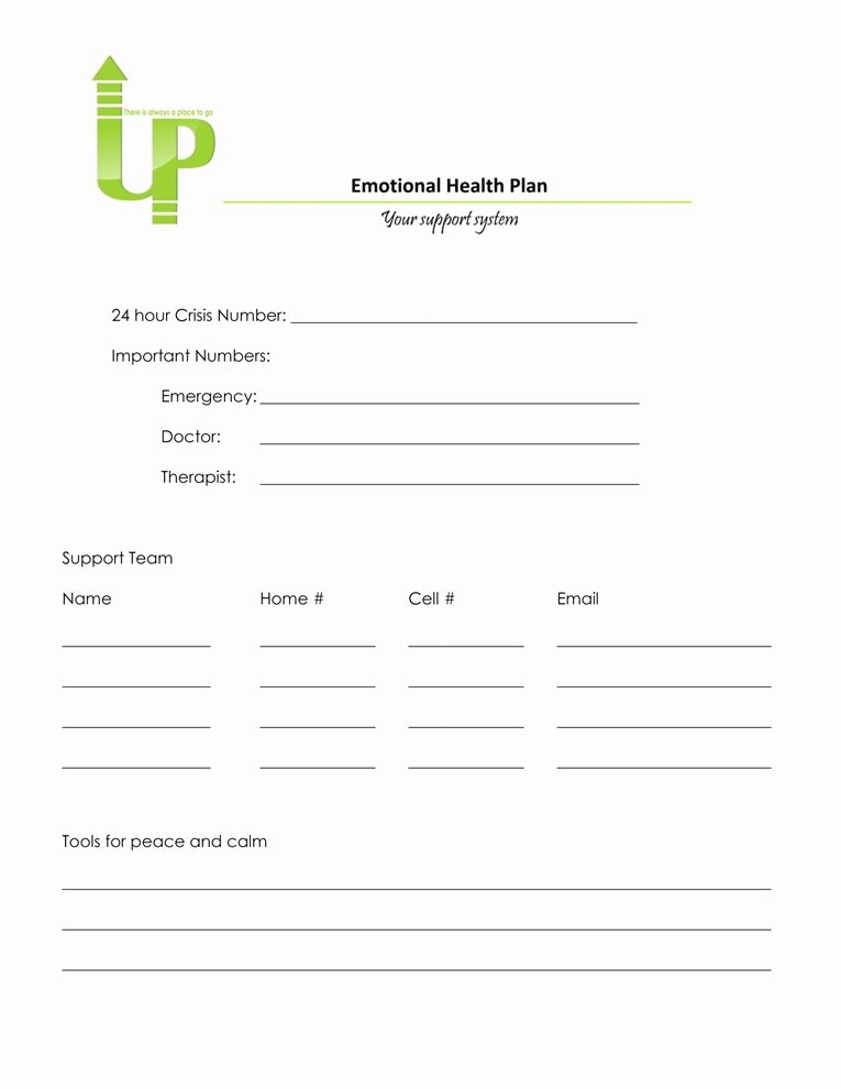 Mental Health Crisis Plan Template Beautiful Crisis Plan Template Mental Health