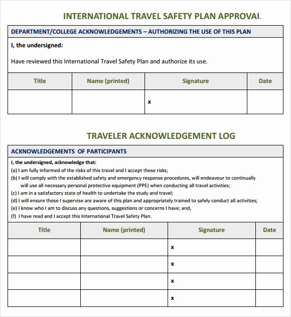 Mental Health Safety Plan Template New 8 Sample Safety Plan Templates