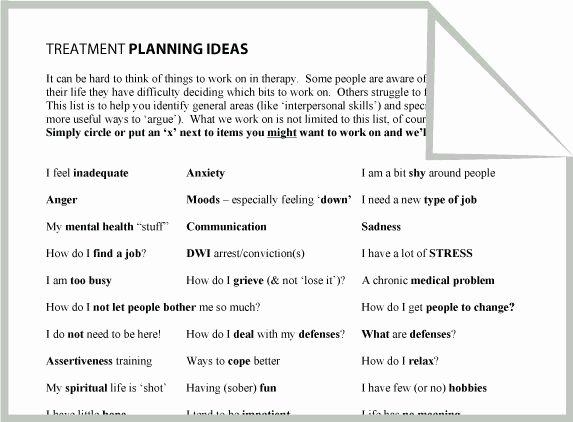 Mental Health Treatment Plan Template Elegant Mental Health Treatment Planning Ideas Worksheet Google
