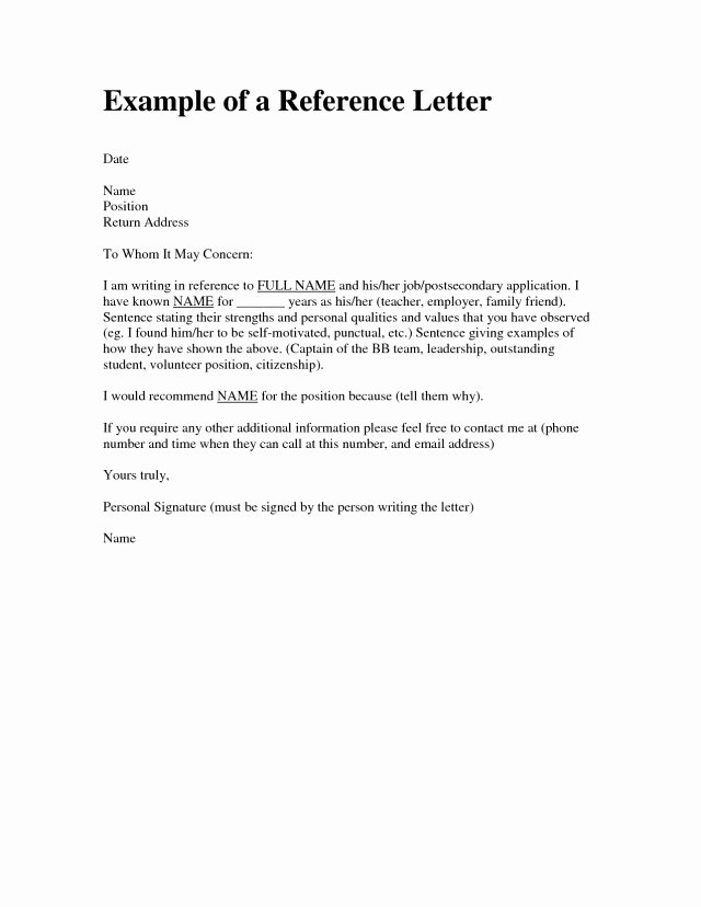 Mentoring Letter Of Recommendation Lovely Character Reference Letter