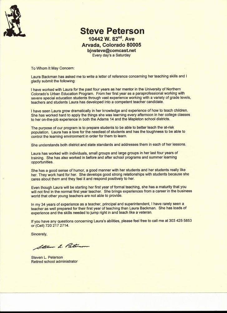 Mentoring Letter Of Recommendation Lovely Letter Of Re Mendation From Unc Mentor Steve Peterson