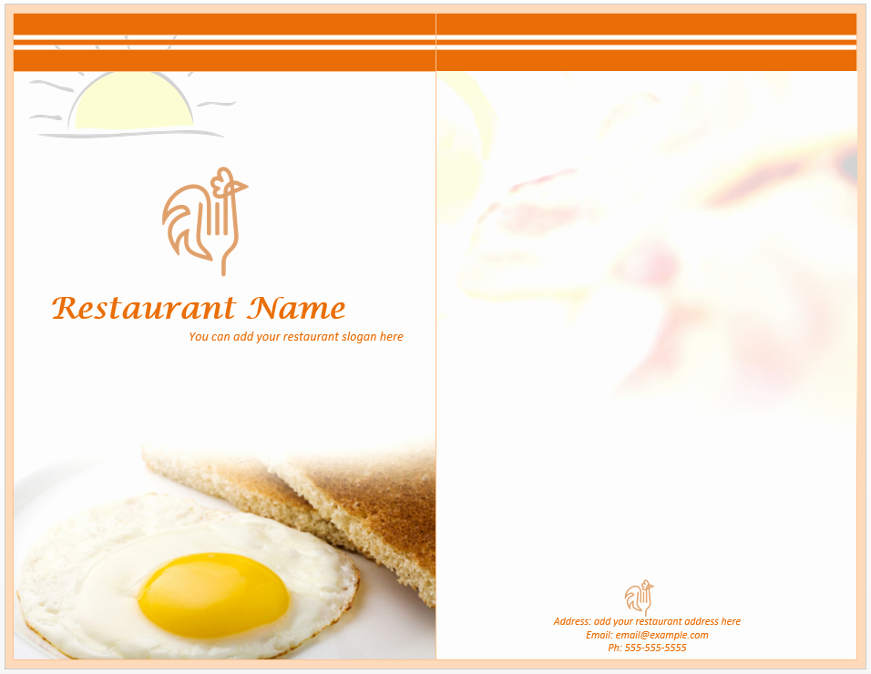Menu Template Free Word Awesome Breakfast Menu Template Word Templates
