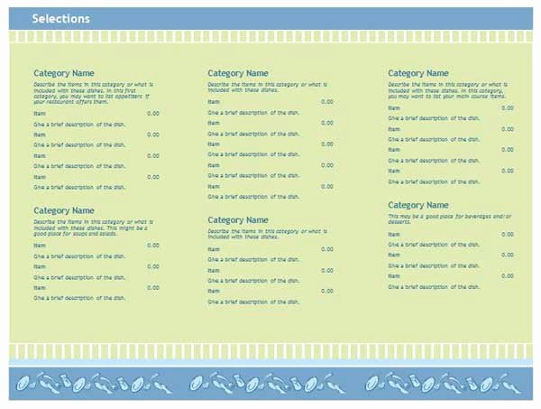 Menu Template Free Word Awesome Free Restaurant Menu Templates Microsoft Word Templates