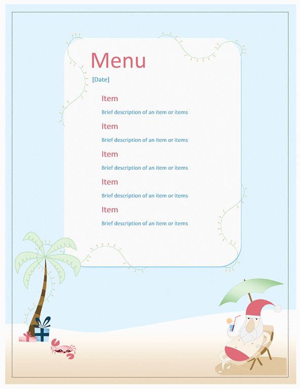 Menu Template Free Word Beautiful Menu Templates Archives Microsoft Word Templates