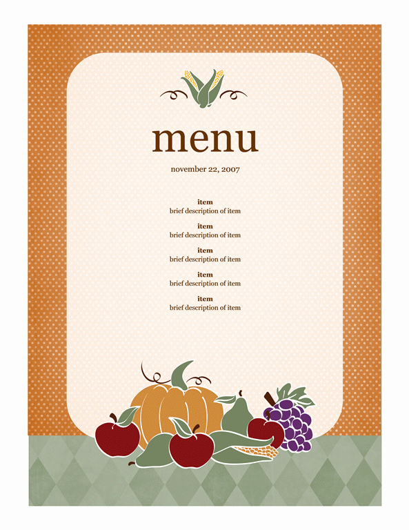 Menu Template Free Word Best Of Get Free Templates for Your Fall event Flyers Invitations