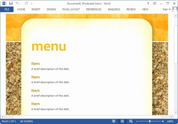 Menu Template Free Word New Best Menu Maker Templates for Word