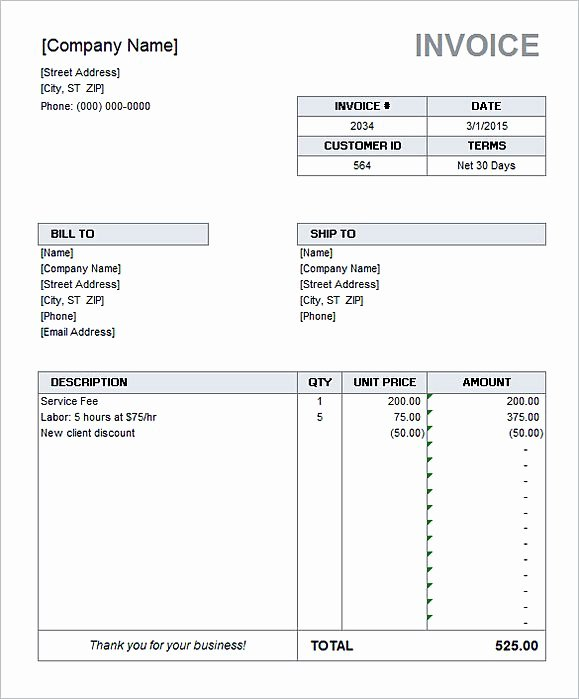 Microsoft Access Invoice Templates Awesome Simple Invoice Template Word
