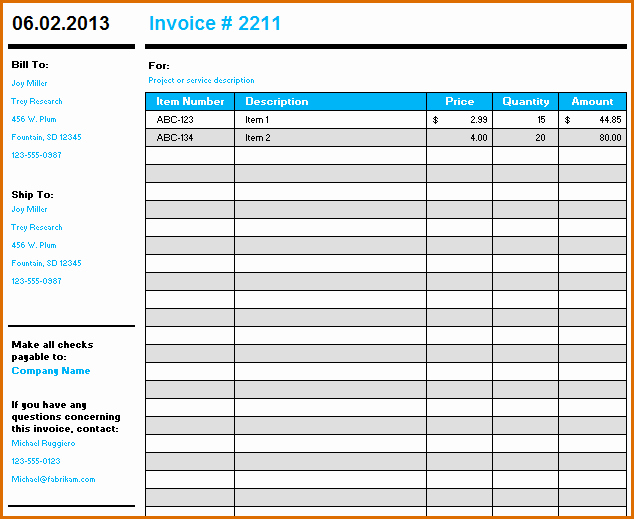 Microsoft Access Invoice Templates Best Of 10 Microsoft Excel Invoice Template