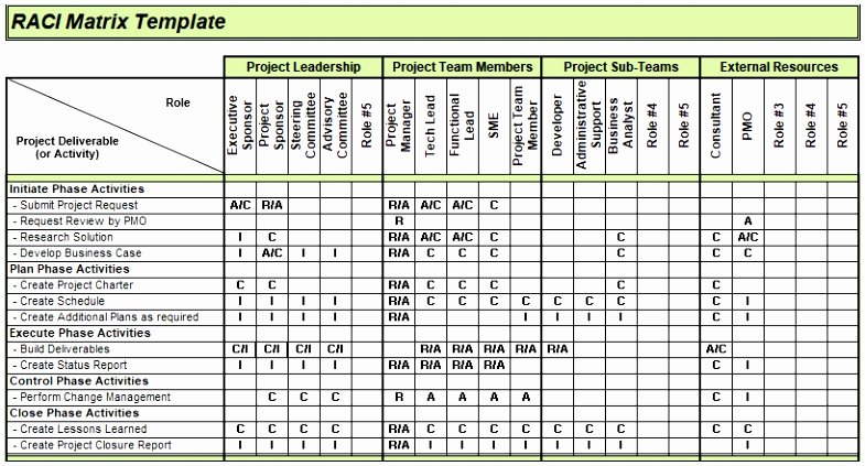 Microsoft Excel Raci Template Lovely 9 Raci Matrix Template Excel Download Raylt