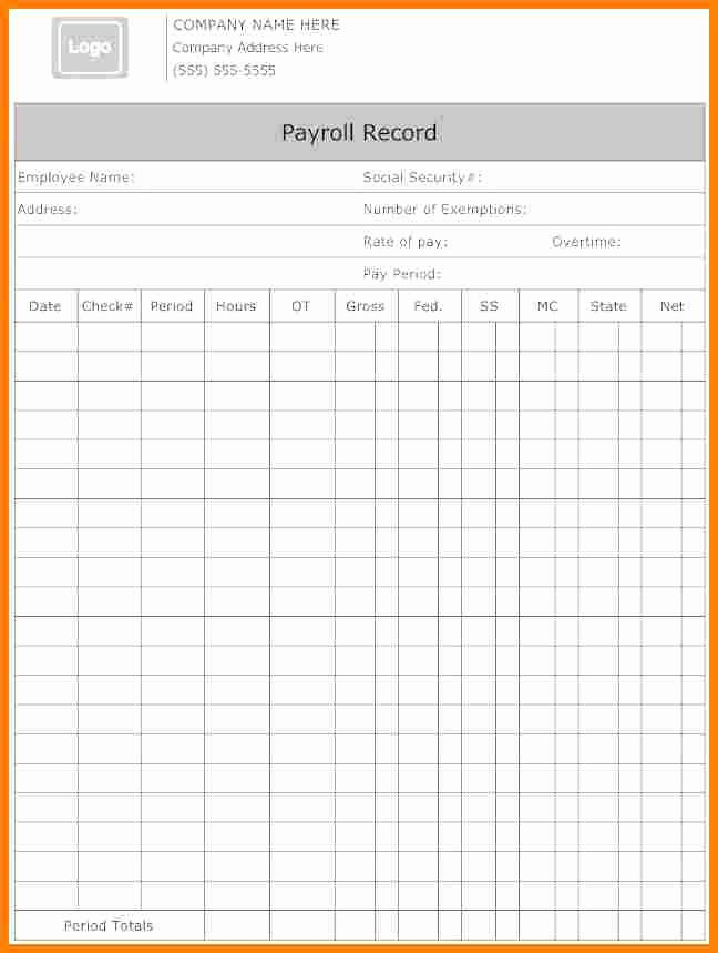 Microsoft Word Check Template Awesome 5 Payroll form Templates