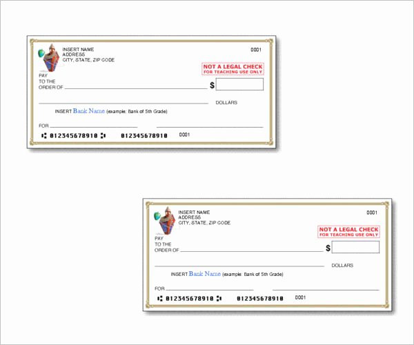 Microsoft Word Check Template Elegant 43 Cheque Templates Free Word Excel Psd Pdf formats