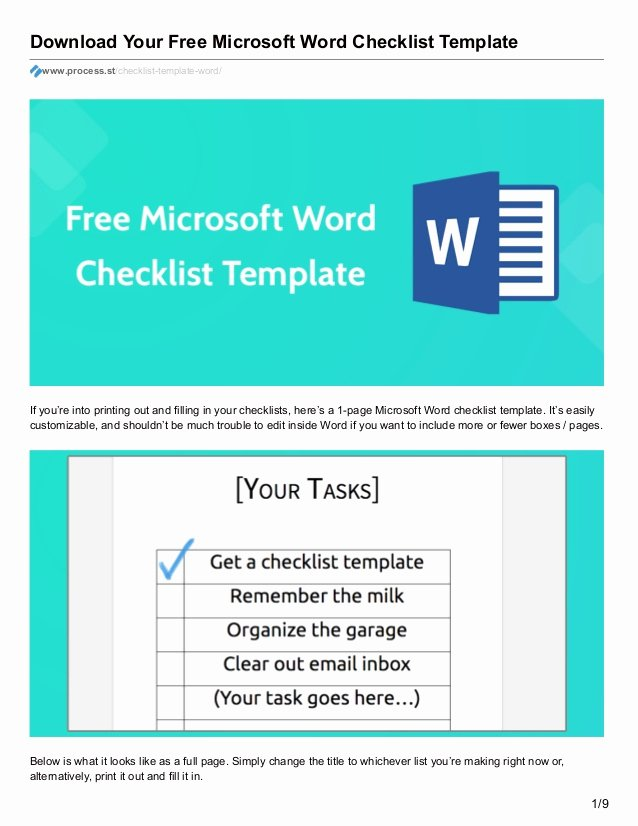 Microsoft Word Check Template Inspirational Download Your Free Microsoft Word Checklist Template