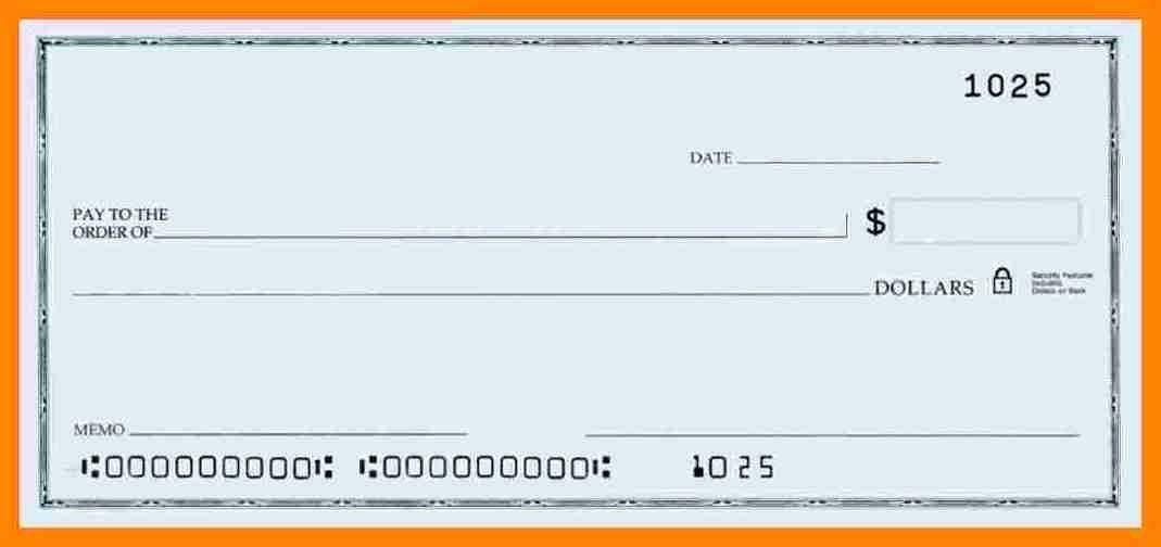 Microsoft Word Check Template New 5 Blank Payroll Checks