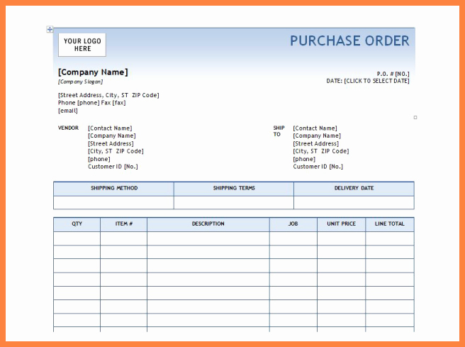 Microsoft Word Purchase order Template Best Of 6 Microsoft Office Purchase order Template