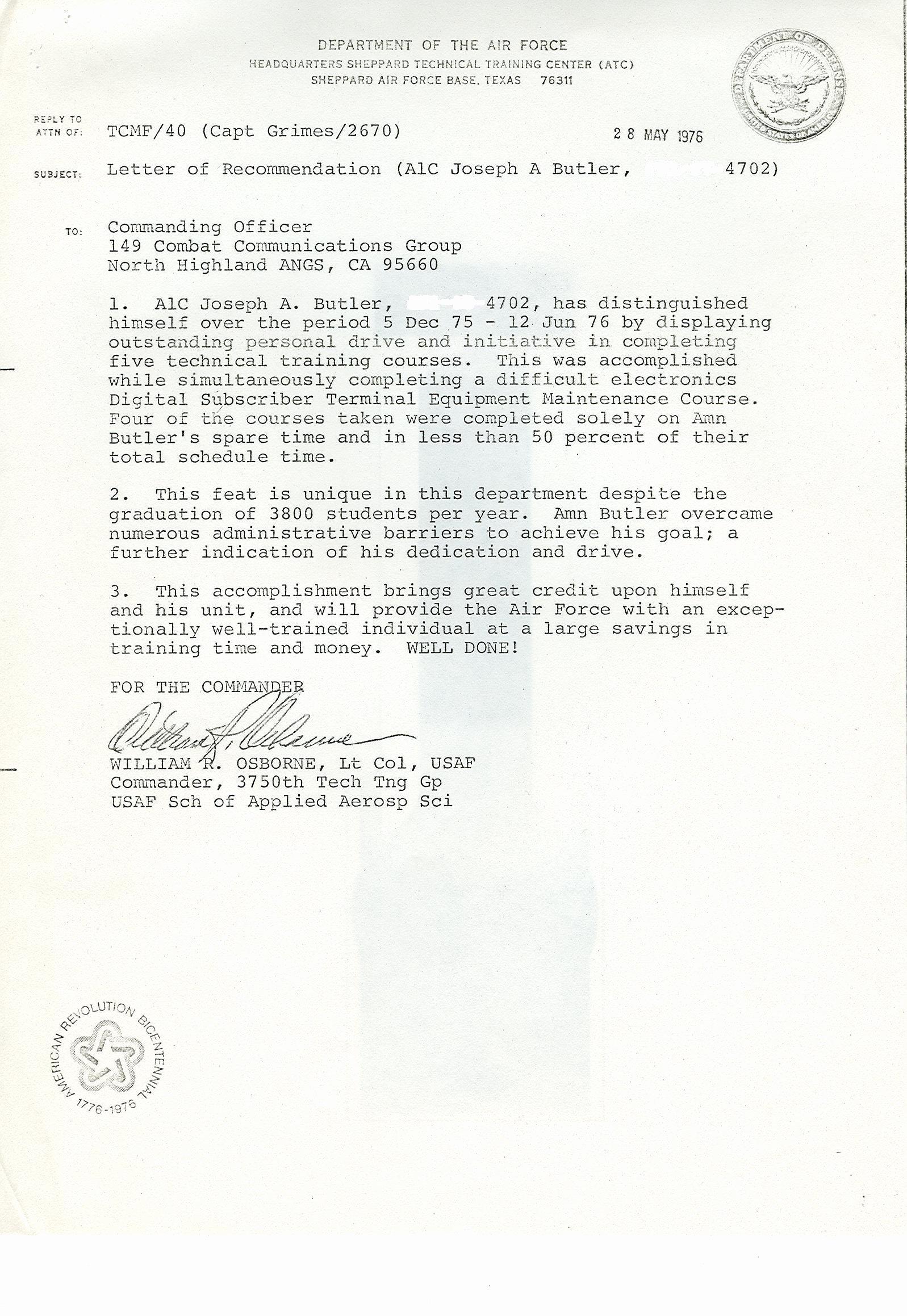 Military Letter Of Recommendation Elegant Military Letter Of Re Mendation