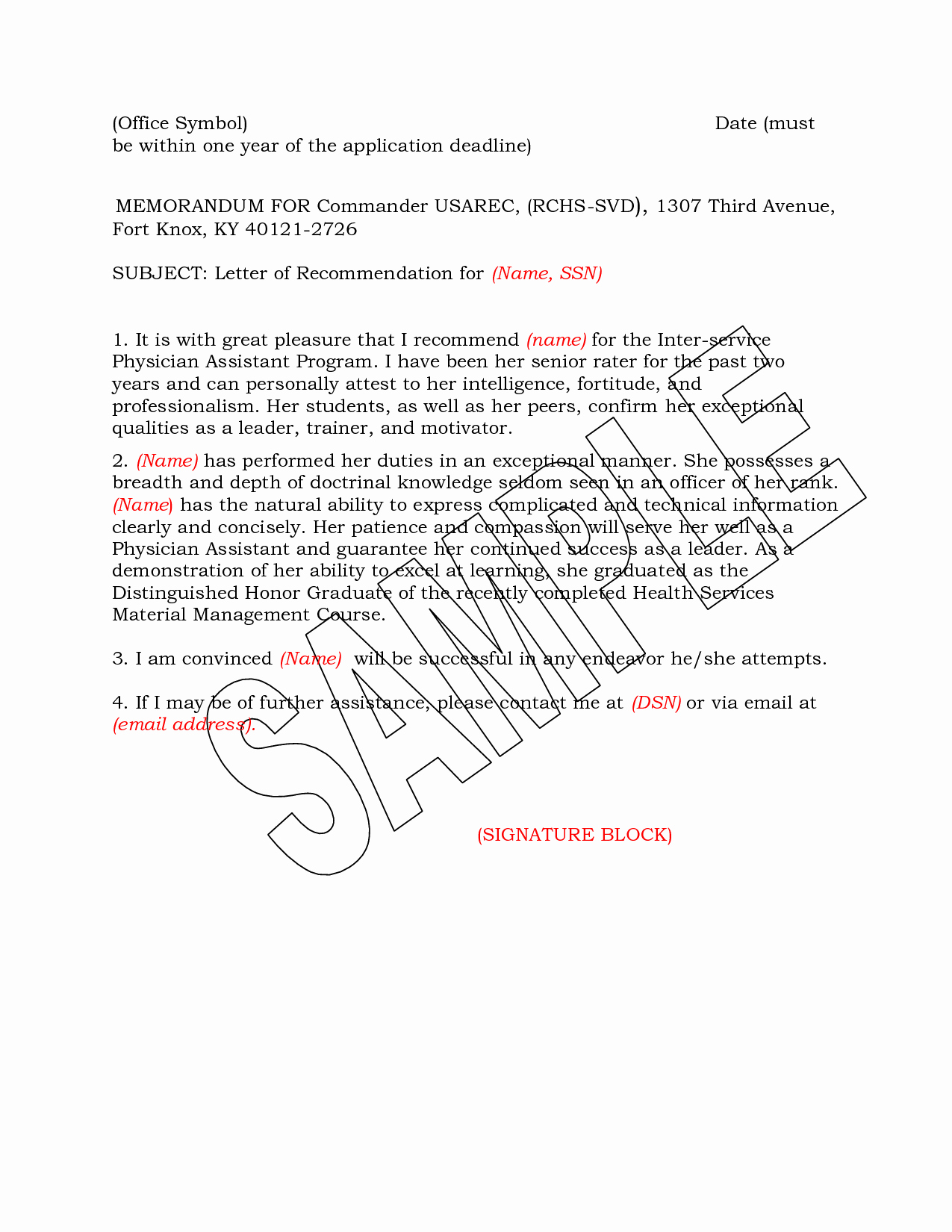 Military Letter Of Recommendation Examples Inspirational Army Letter Re Mendation