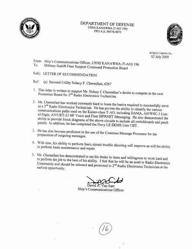 Military Letter Of Recommendation Examples Inspirational Letters Of Re Mendation