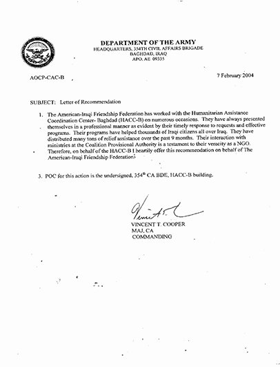 Military Letter Of Recommendation New Best S Of Examples Military Letters Army