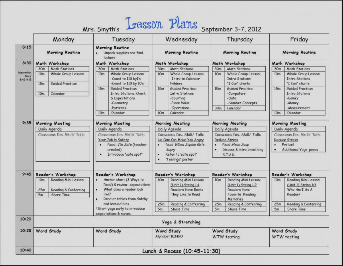 Mini Lesson Plan Template Beautiful Mini Lesson Plan Template Baskanai