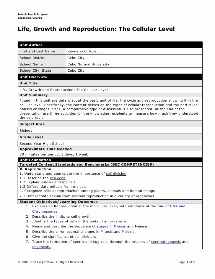 Mini Lesson Plan Template Fresh Uft Lesson Plan Template – Middle School Ela Lesson Plan