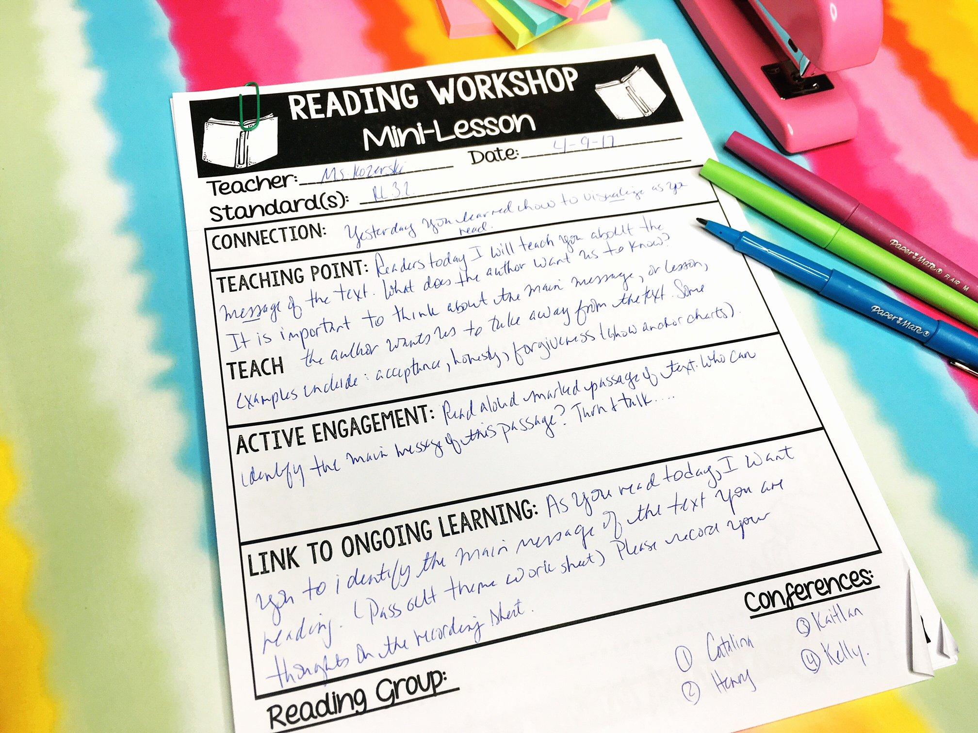 Mini Lesson Plan Template Inspirational Reading Workshop Mini Lesson Template Inspire Me asap