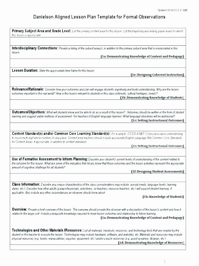 Mini Lesson Plan Template Inspirational Teaching Lesson Plan Template Luxury Simple Templates