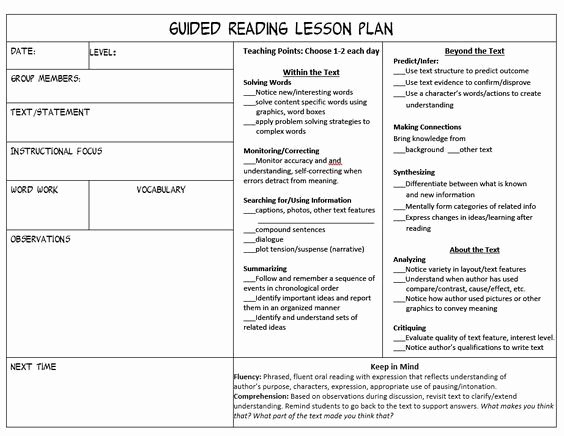 Mini Lesson Plan Template Lovely Stop Feeling Overwhelmed Trying to Juggle Guided Reading