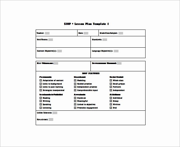 Mini Lesson Plan Template Luxury Uft Lesson Plan Template – Middle School Ela Lesson Plan