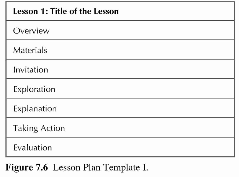 Mini Lesson Plan Template New the Art Of Teaching Science Teacher Resources