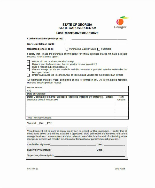 Missing Receipt form Template Awesome 16 Sample Receipt forms In Doc