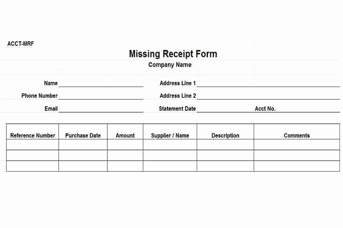 Missing Receipt form Template Fresh Internal Control Procedures for Small Business Checklist