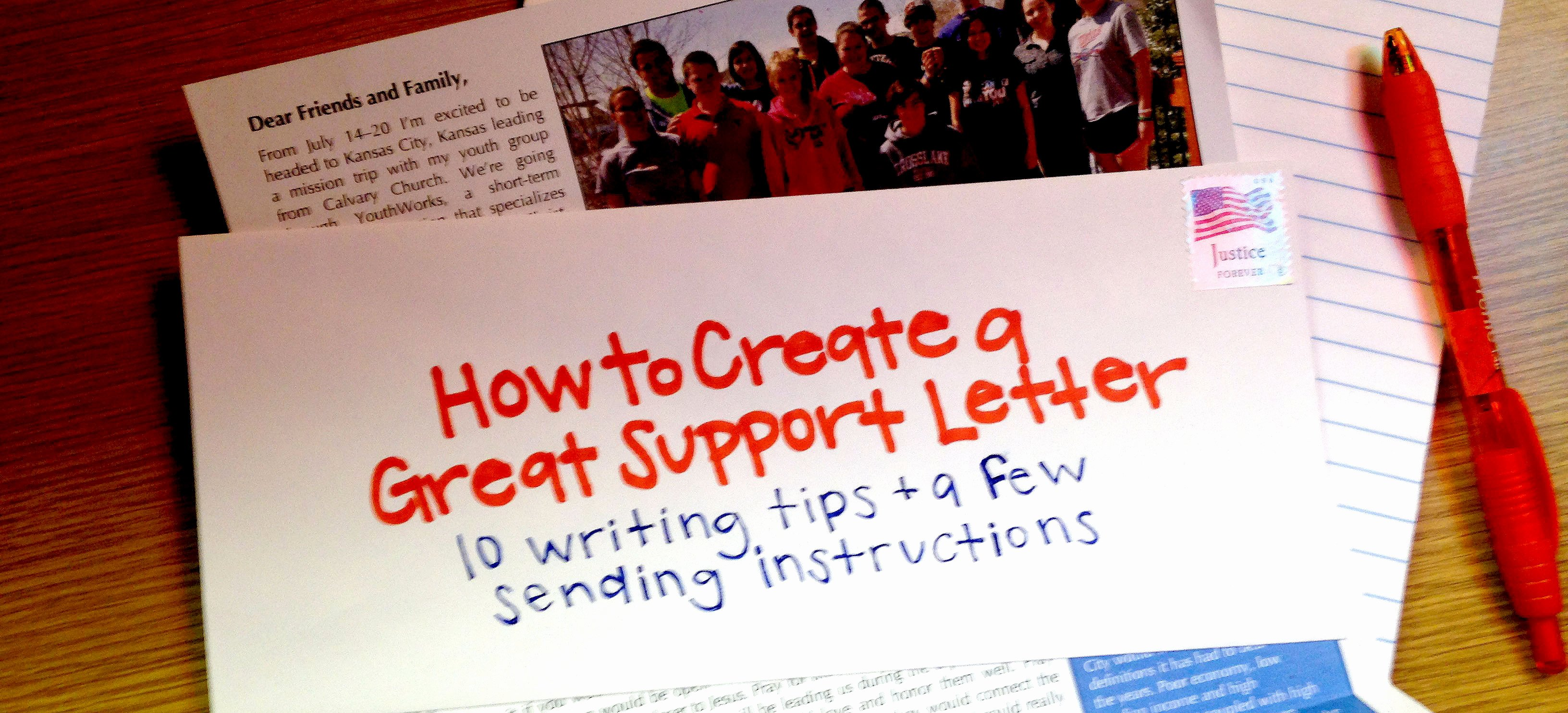 Mission Trip Donation Letter Template New How to Create A Great Support Letter Youthworks