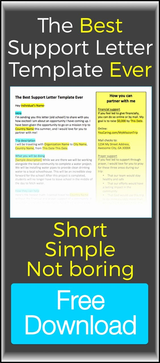 Mission Trip Donation Letter Template New It S Short It S Simple It S Not Boring and It S Color