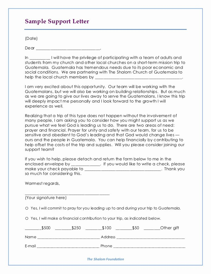 Mission Trip Donation Letter Template New Team Manual Brentwood Baptist July 2011