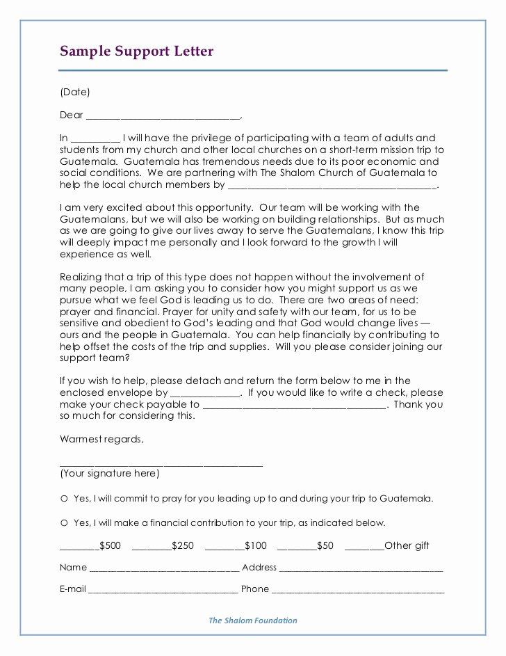 Mission Trip Support Letter Template Best Of Mission Support Letter Template Ksdharshan