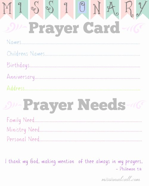 Missionary Prayer Card Template Free Best Of 7 Free Printables From the Clothed In Scarlet Munity