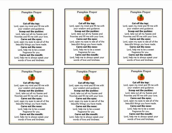 Missionary Prayer Card Template Free Fresh Pumpkin Prayer Template Fall Harvest Party Christian