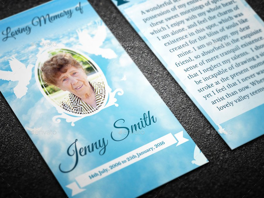 Missionary Prayer Card Template Free Inspirational Peace Funeral Prayer Card Template by Creativesource