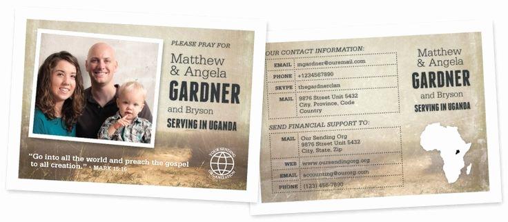 missionary prayer cards