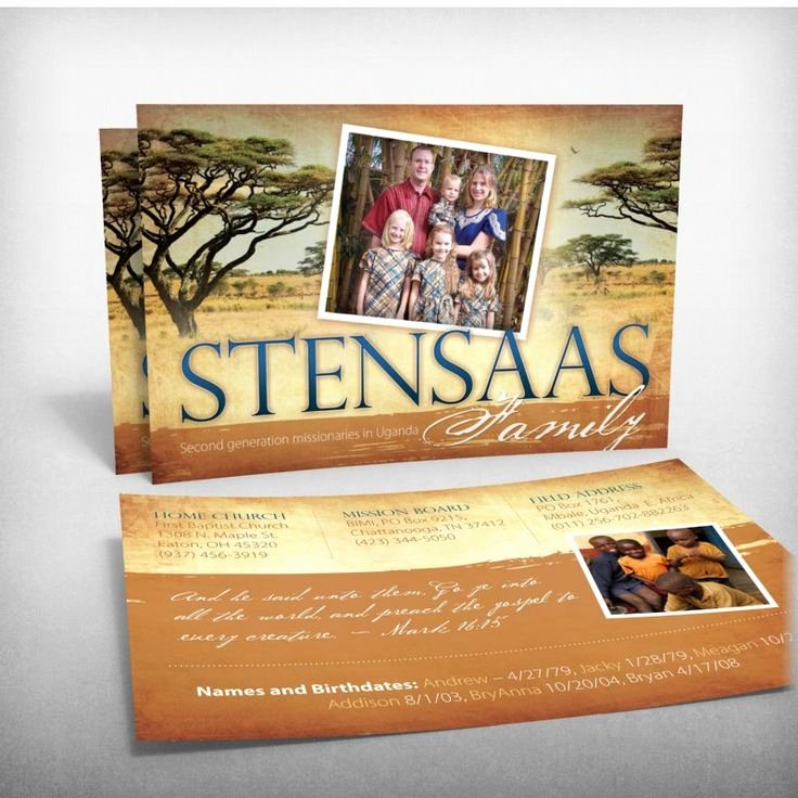 Missionary Prayer Card Template Free Luxury the Stansaas Family Missionaries to Uganda