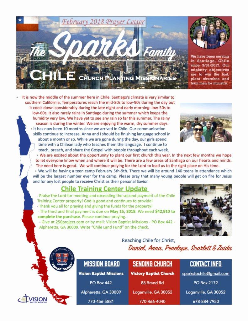 Missions Support Letter Fresh February 2018 Prayer Letter the Sparks Family