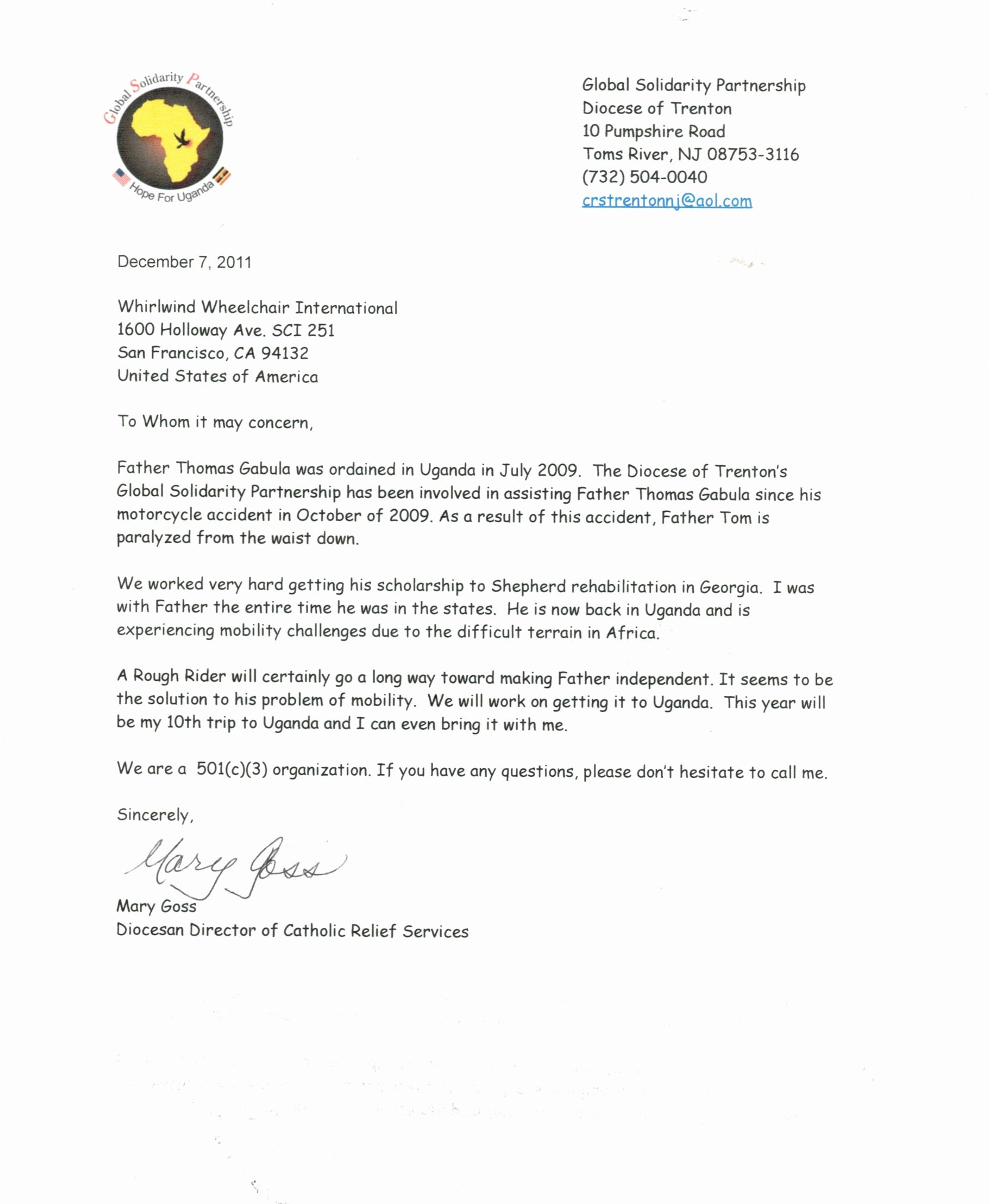 Missions Trip Support Letter Template Inspirational Mission Trip Support Letter