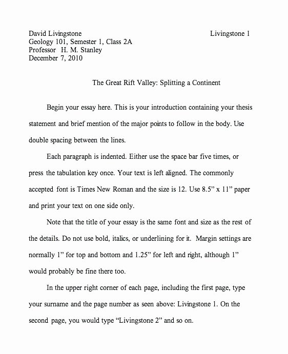 Mla Personal Letter format Fresh Mla Narrative Essay format – Komphelpso