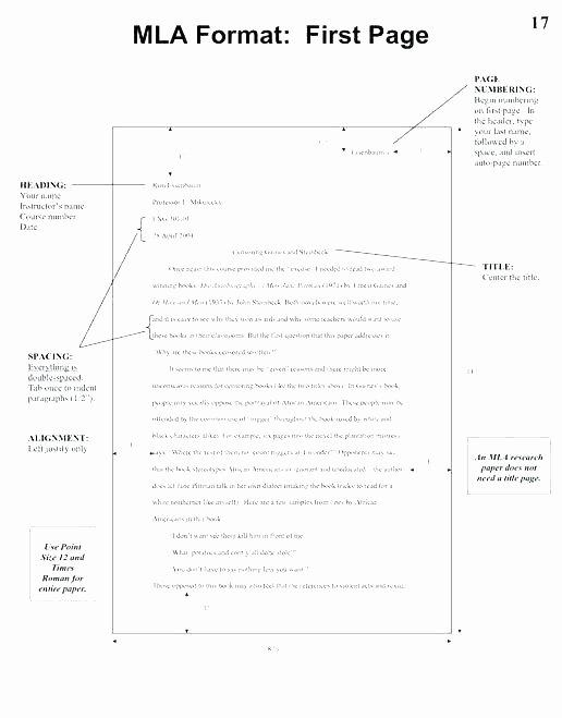 Mla Personal Letter format Lovely Mla format Essay Example Pdf Checklist