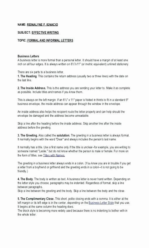 Mla Personal Letter format Luxury Mla Writing Sample Mla Style Writing Guide 2018 12 30
