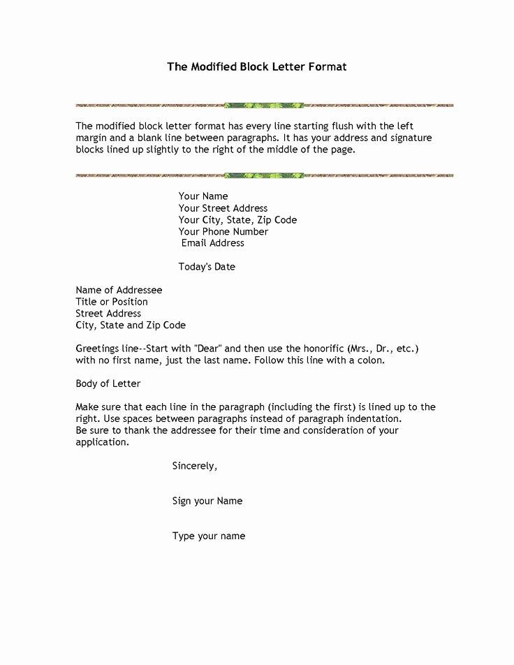 Modified Block Letter format Best Of Best 25 formal Letter format Sample Ideas On Pinterest