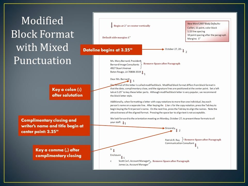 Modified Block Letter format Best Of Module 4 Final Exam Review Ppt Video Online