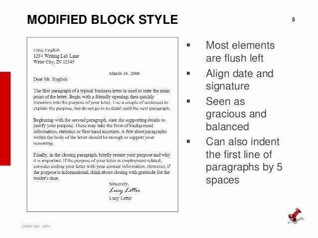 Modified Block Letter format Elegant Business Letter Basics