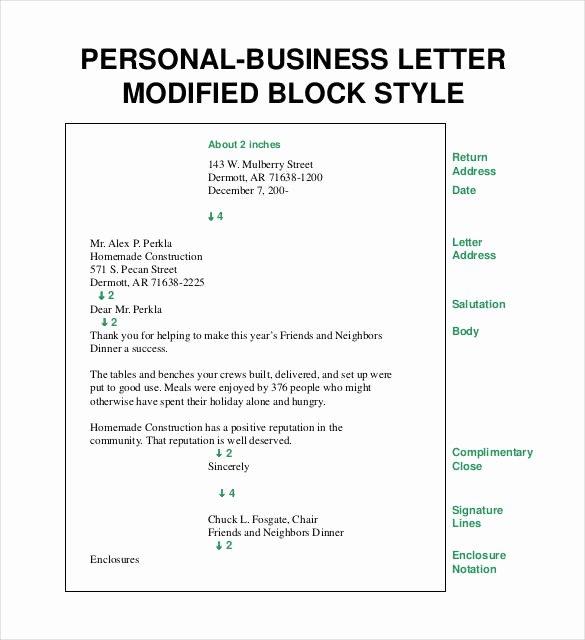 Modified Block Letter format Fresh 50 Business Letter Templates Pdf Doc