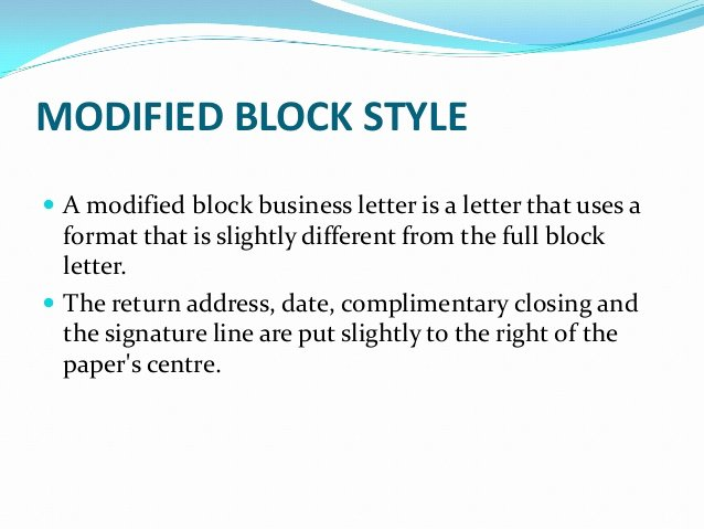 Modified Block Letter format Unique Business Letters and Different Styles